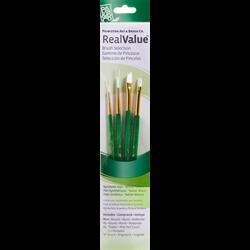 Brush Set 9117 Real Value Series - White Taklon Set of 4 brushes