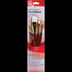 Brush Set 9125 Real Value Series - White Taklon Set of 4 brushes
