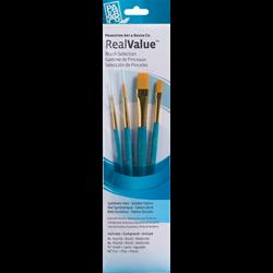 Brush Set 9171 Real Value Series - Golden Taklon Set of 4 brushes