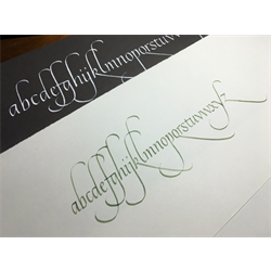 //Done-Beginner Calligraphy Course with Theresa de Guzman, May 27th, 2017