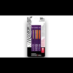 Zebra Mechanical Coloured Pencil 30 pc Refills