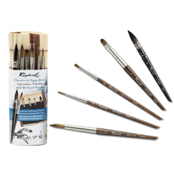 Raphael Watercolour and Watermedia 6pc Mini Travel Brush Set ND