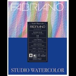 """Fabriano Studio Watercolour Pad 140lb Cold Pr Press 11""""x14"""" 50 Shts $80 Value ND"""