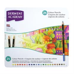 Derwent Academy Colouring Pencil 24 Colour Set