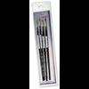 Black Silver Brush Set BS-SH-4
