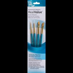 Brush Set 9173 Real Value Series - Golden Taklon Set of 4 brushes