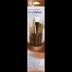 Brush Set 9140 Real Value Series - White Taklon Set of 6 brushes