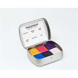 Stoneground Watercolour Palette - 6pc Pearlescent Galaxy **ND**