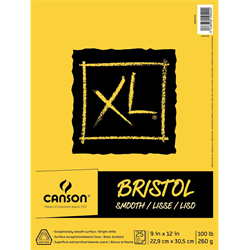 Canson XL Bristol Smooth Pad 9x12 100lb