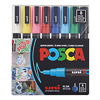 POSCA Acrylic Marker set Fine 3M - Basic 8pc **ND**