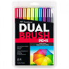 Tombow Dual Brush Pen Set of 10 Bright **ND**