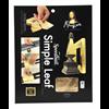 "Mona Lisa Simple Leaf Gold 18 Sheets 5 1/2"" square (0010030)"