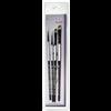 Black Silver Brush Set BS-SH-2
