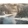 "//Done - ""Frozen"" Bob Ross Style Oil Painting Class with Kathryn Wallack, Mar 11"