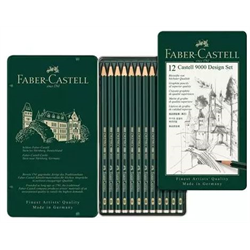 Faber Castell Drawing Pencil 9000 Set of 12 5B to 5H