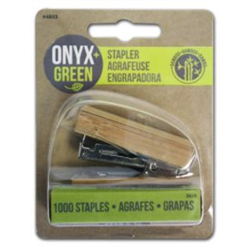 Onyx + Blue Mini Stapler Bamboo