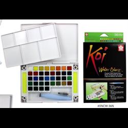 Sakura Koi Water Colors Pocket Field Sketch Box 36 Colours