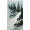 //Done - Winter Waterfall Bob Ross Style Oil Painting Class, June 10th, 2018
