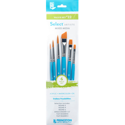 Brush Set Princeton Value Set #22 - 6 Piece Set