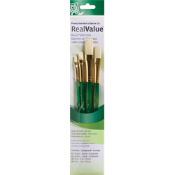 Brush Set 9112 Real Value Series - Bristle Set of 4 brushes