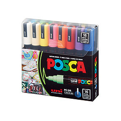 POSCA Acrylic Marker set Medium 5M - Basic 16pc **ND**
