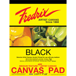 Fredrix Value Series Yellow Label - Canvas Pads BLACK