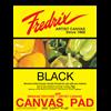 Fredrix Value Series Canvas Pads BLACK 12X16