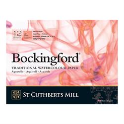 "Bockingford Watercolour Pad 140lb HP White 12"" x 16"" (12 sheets) **ND**"
