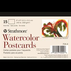 "Strathmore Cards Postcards Watercolor CP 140lb 4"" x 6"" 15pk"