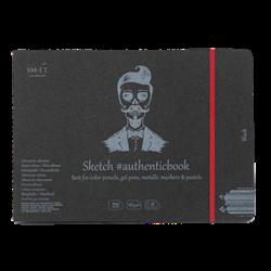SM.LT authenticpad Album Sketch Black 24.5cm x 176cm 165gsm 18shts **ND**
