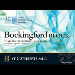 """Bockingford Watercolour Block140lb CP White 9"""" x 12"""" (12 sheets) **ND**"""