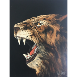 """//Done - """"Tiger"""" Oil Painting Class with Kathryn Wallack, June 9th, 2018"""