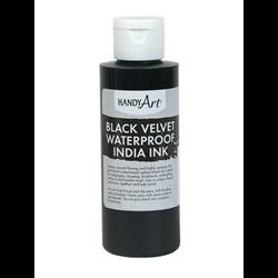 Handy Art Black Velvet Waterproof India Ink 4oz