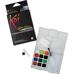 Koi Water Colors Pocket Field Sketch Box 12 Colours