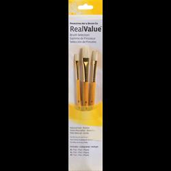 Brush Set 9104 Real Value Series - Bristle Set of 3 brushes