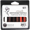 Pacific Arc Sketching Pastels Traditional Earth Tones 6 pc Set