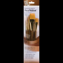 Brush Set 9146 Real Value Series - Golden Taklon Set of 4 brushes