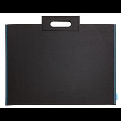 """Itoya Profolio Midtown Bag 17"""" x 23"""" Black w/ Blue Threading"""