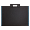 "Itoya Profolio Midtown Bag 17"" x 23"" Black w/ Blue Threading"