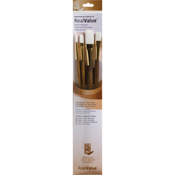 Brush Set 9147 Real Value Series - White Taklon Set of 4 brushes - LH