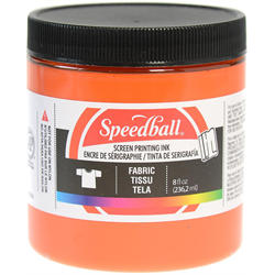Speedball Fabric Screen Printing Ink Orange 8oz