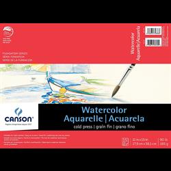 Canson Foundation Watercolor CP Pad 11x15 90lb