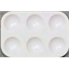 """Palette Richeson Plastic Heavy Duty 6 Well 3-5/8""""x5-1/4"""""""