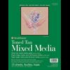"Strathmore 400 Toned Tan Mix Media Tape Bound 11""x14"""