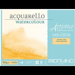 """Artistico Watercolour Block CP 140lb Trad. White 5""""x7"""" 25shts"""