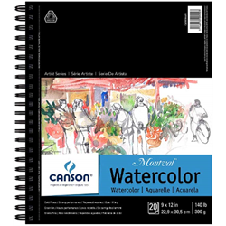 Canson Montval Watercolor CP Coil 9x12 140lb