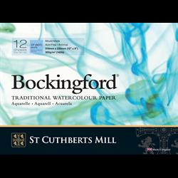 "Bockingford Watercolour Pad 140lb CP White 9"" x 12"" (12 sheets) **ND**"