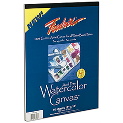 Fredrix Artists Series Red Label - Canvas Pad Watercolor