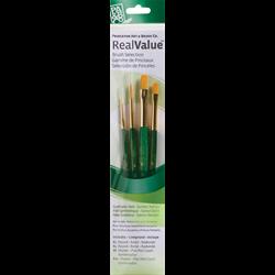 Brush Set 9116 Real Value Series - Golden Taklon Set of 4 brushes