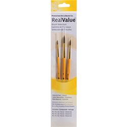 Brush Set 9100 Real Value Series - Camel Set of 3 brushes